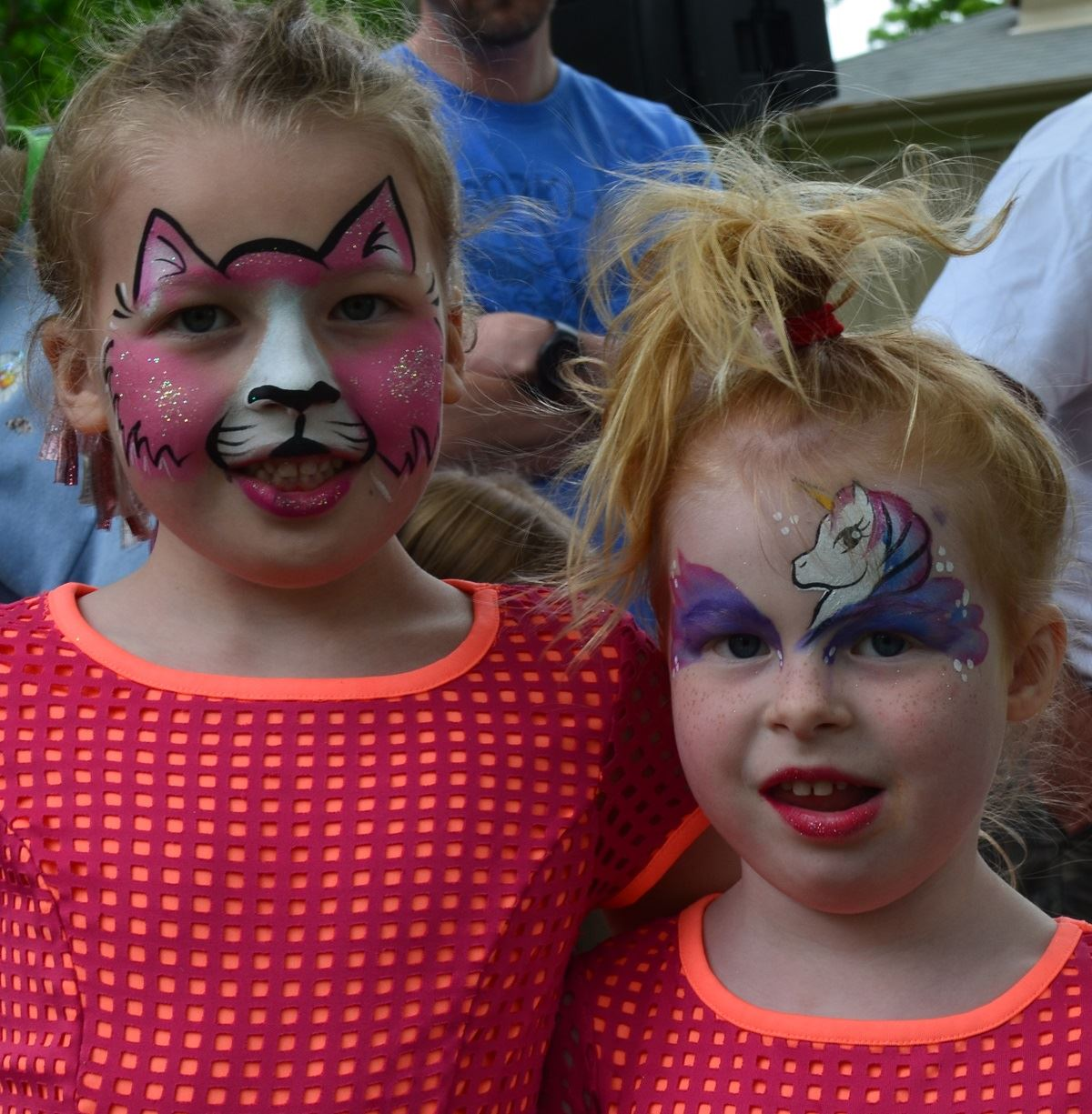 Fun Zone Girls with Faces Painted