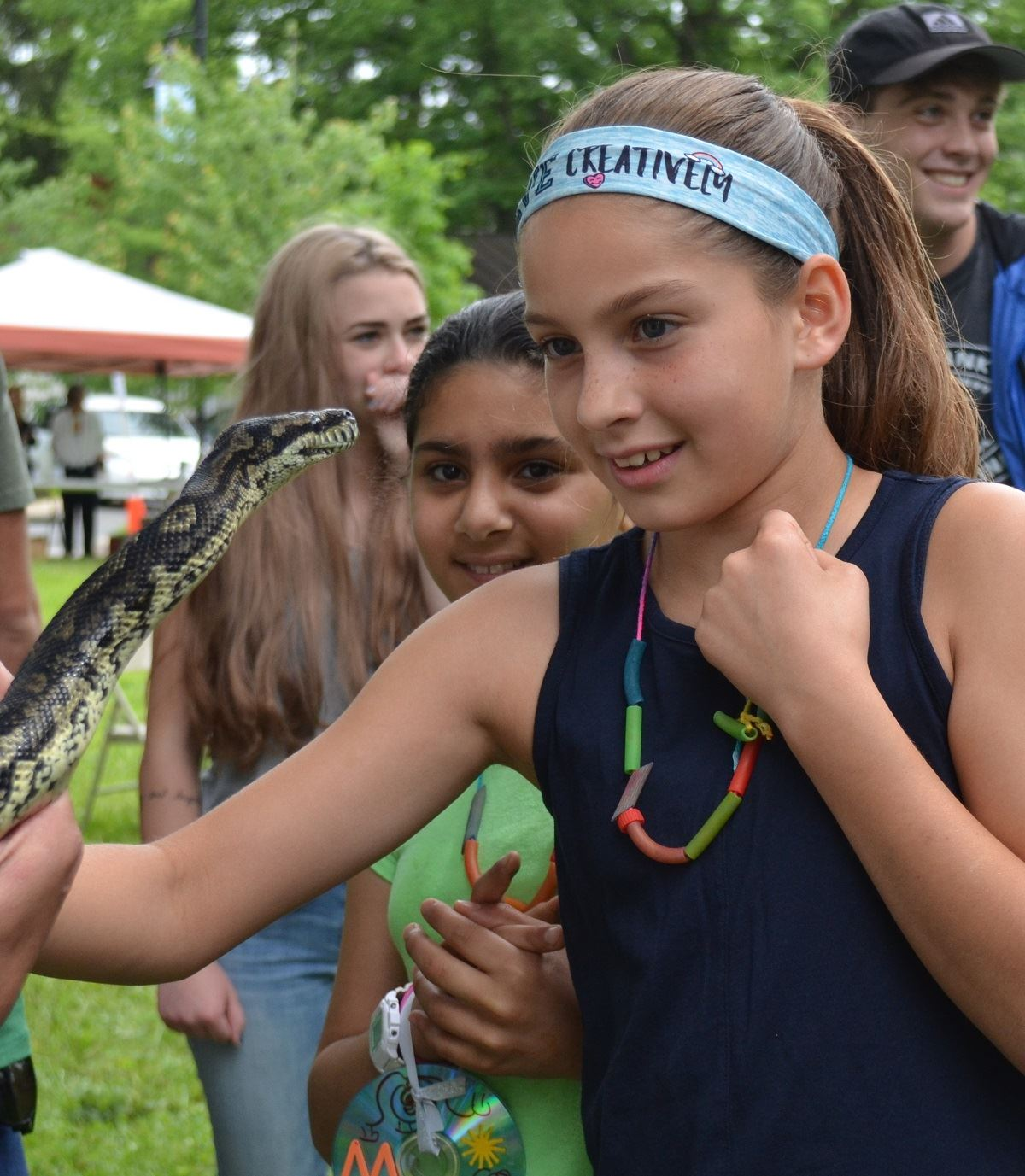 Fun Zone, Critters and Conservation, python with girl 2