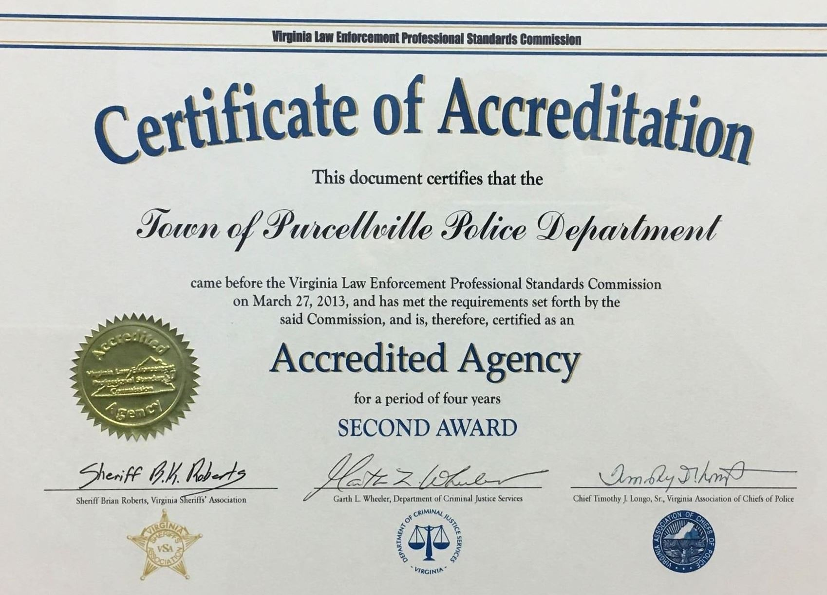 Accreditation Cert 2nd