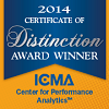 ICMA Center for Performance Measurement - 2014 Certificate of Distinction Award Winner